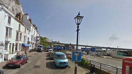 Mr Qazimaj's car was found in Athol Terrace in Dover, just metres from the ferry terminal. Picture: