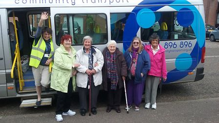 Residents making the most of the community transport service. Picture: Supplied