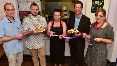 The Keystone Trust opens the Abbey Cafe at the Abbey Neighbourhood Centre in Thetford after receivin