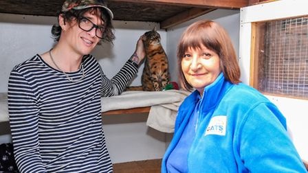 Justin Hawkins' cat Cully has returned after going missing for three years. Photo: Trevor Fuller/Cat