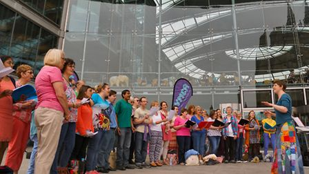 The Celebrate Norfolk event at the Forum in Norwich
