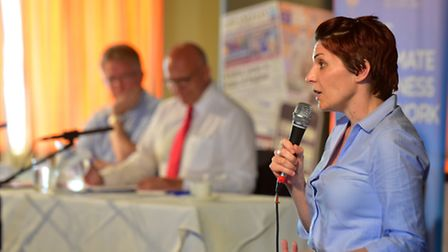 Lowestoft EU debate with Lowestoft chamber of commerce and the EADT. Kate Godfrey (remain)PHOTO: Nic