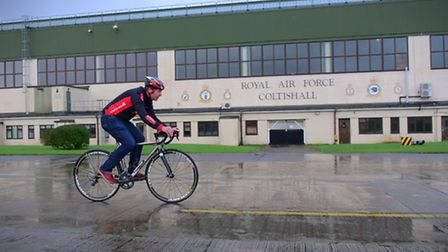 Neil Turner of Pedal Revolution at the former RAF Coltishall site where the new PedalPark will be se