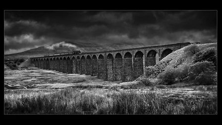 This photo won the Pictorial & General - Monochrome category. It's called Ribblehead Viaduct, by Dav