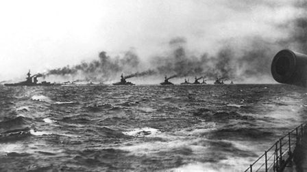 Undated handout photo issued by the National Museum of the Royal Navy of dreadnought battleships of