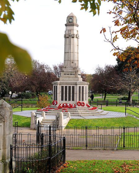 The war memorial in St Georges Park. Picture: James Bass