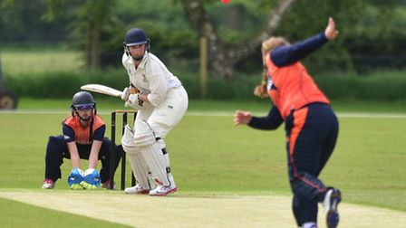 Norfolk v Netherlands cricket in the Royal London Women's Championship Division Three. Emily Woodhou