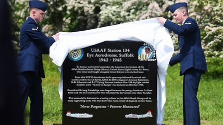 The war memorial for the United States Army Air Force 490th Bomb Group, who served at Eye Airfield d