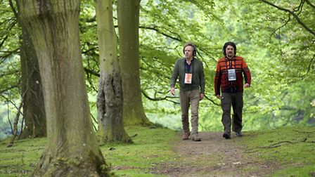Composers Rob Van Rijswijk and Jeroen Strijbos who've created the event Walk With Me for the Norfolk