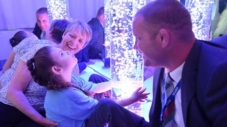 Former England rugby player Phil Vickery at the opening of a new and improved sensory room at the Jo