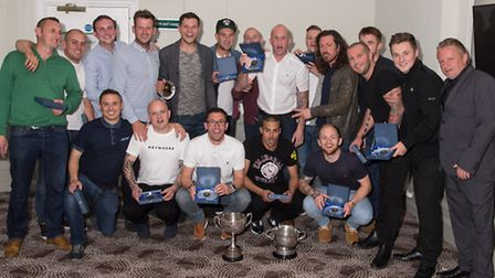Riverside Rovers show off their silverware. Picture: Simeon Furness