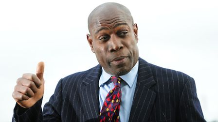Former boxing champion Frank Bruno has joined forces with North Norfolk MP Norman Lamb. Photo: Anna