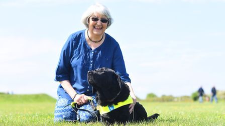 Cynthia Wiseman was one of the many guide dog owners that lobbied at Westminster on Wednesday. Pictu