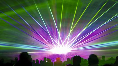 LET THERE BE LIGHT: Classic Ibiza laser show. Picture: SUBMITTED
