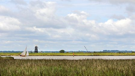 Berney arms mill surrounded by marshes and wetland. Picture: James Bass
