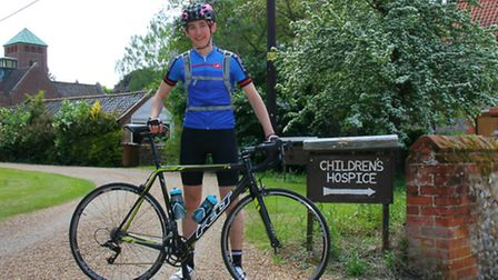George Broughton is riding from one side of America to the other for EACH's nook appeal.