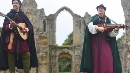 Launch of the Castle Acre Heritage Trail. Pictured are Jonny Dyer and Vicki Swan from Blast from the