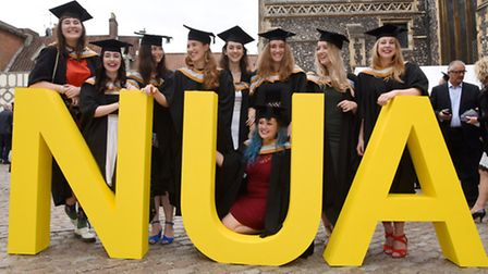 Norwich University of the Arts NUA graduation ceremony 2015 in St Andrews Hall, Norwich. Photo : Ste