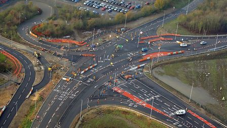 Confusing? The Postwick Hub junction. Picture: Mike Page