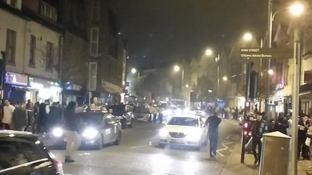 Still really busy on #PrinceOfWalesRd #Norwich Appears to be a lack of taxis. #HowWillYouGetHome Pho