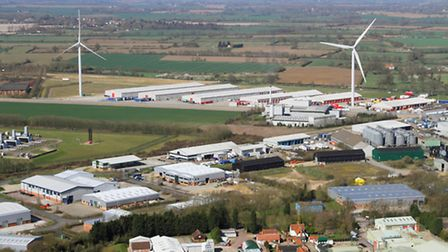 Aerial view of Eye Airfield. Picture: Mike Page.