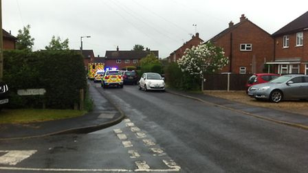 The crash at Moorgate in Dereham which happened earlier today. Picture: Submitted