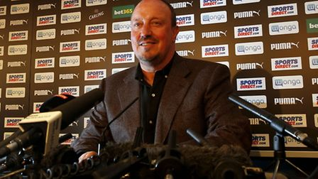 Newcastle United manager Rafa Benitez during a press conference at St James' Park, Newcastle. Pictur