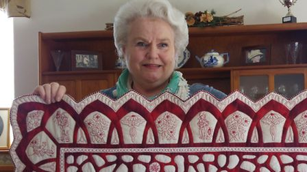 Jacquie Harvey, an award-winning hand quilter who has exhibited her work around the world, has been