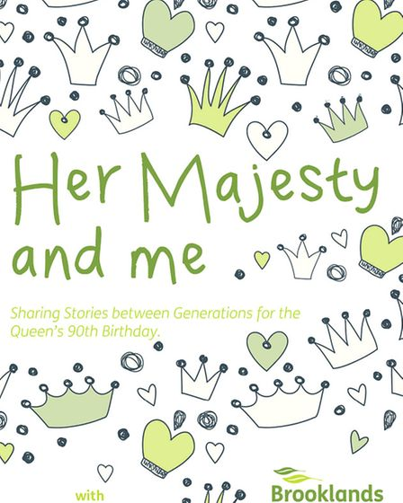 Front cover of Her Majesty and Me, a book of stories about the Queen by pupils at Kinsale Junior Sch