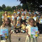 Pupils from Attleborough Junior School have been learning about cycling ahead of next week's 2016 Av
