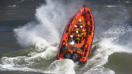 Sheringham Lifeboat The Oddfellows in action.