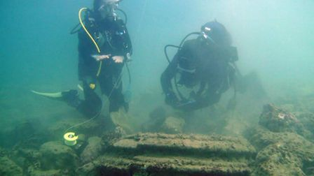The geological formation which was initially thought to be a lost underwater city off a Greek island