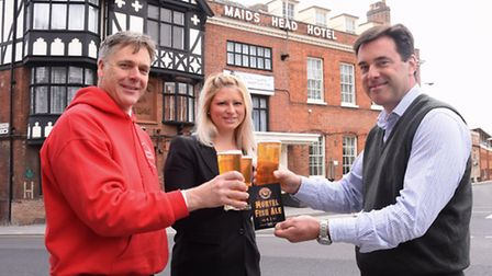 The launch of the Woodfordes charity beer Murtel Fish Ale for the City of Ale, in aid of Sistema, at