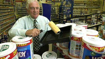 Bill Godfrey pictured at his Riverside Road store in Norwich in 2003.