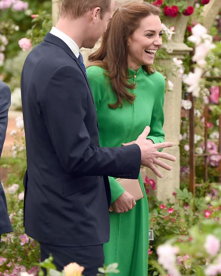 The Duke and Duchess of Cambridge during a visit to the RHS Chelsea Flower Show, at the Royal Hospit