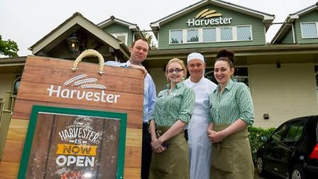 Newly refurbished Harvester Restaurant in Lowestoft, at Potters Kiln Picture caption: General Mana