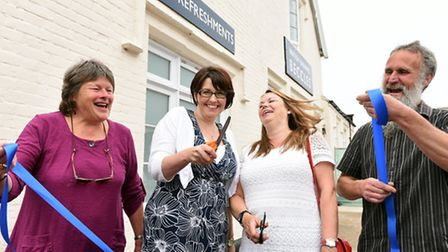 The newly refurbished railway station building at Beccles has been officially opened. Pictured is Ch