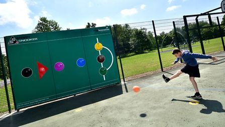 Street Snooker at The Costessey Centre. Keiran Blundell, 12.Picture: ANTONY KELLY