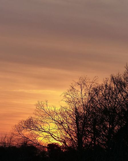 Lesley Buckley captured this stunning sunset.