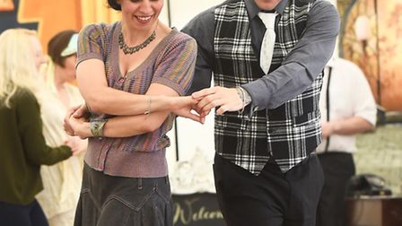 1920's dancing in a marquee on the Tuesday Market Place in King's Lynn. Picture: Ian Burt
