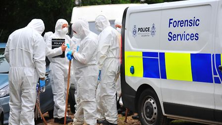 The search continues on Saturday around the property of Peter and Sylvia Stuart. Peter's body was di