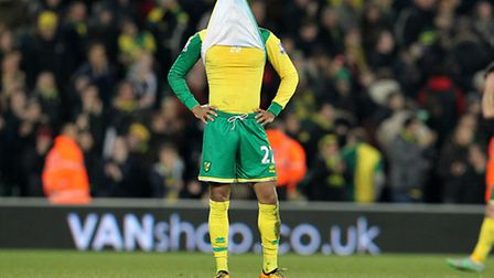 Redmond reacts to the defeat at the end of the Barclays Premier League match at Carrow Road, Norwich