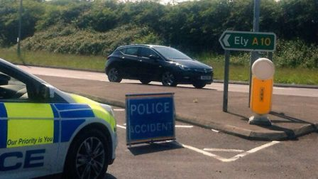 The A10 was closed between Downham Market and Southery following an earlier crash.
