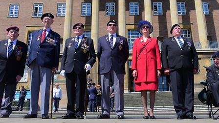Remembering D-Day on June the 6th at the Memorial Gardens outside City Hall.PHOTO BY SIMON FINLAY