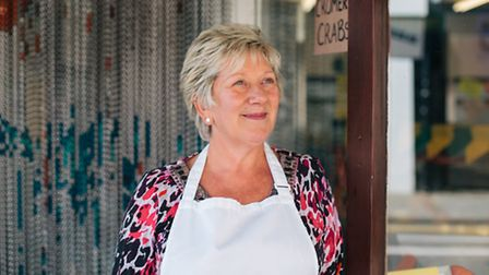 Shirley Tyrrell from S+J Seafood in 128 Magdalen Street. Picture by Katherine Mager.