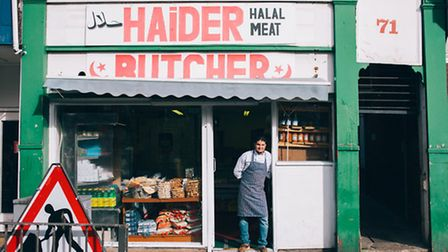 Maher Ben Elwaher from Haider Butcher, 71 Magdalen Street. Picture by Katherine Mager.
