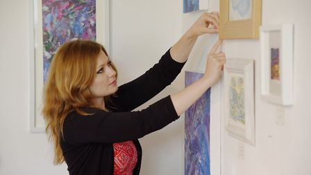 The Jade Tree, Elmhill. Artists Marie Pickett preparing for the Norfolk and Norwich Open Studios. Ph