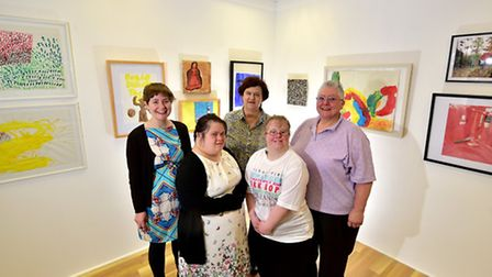 Artshoproject prepare for the Norfolk and Norwich Open Studios. Pictured, left to right, Suzanne Hop