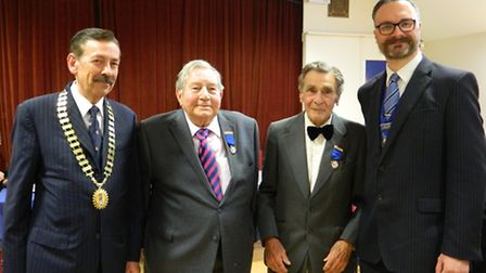 From left, John Ward, Dennis Eley, Russell James and Ian Mackie.