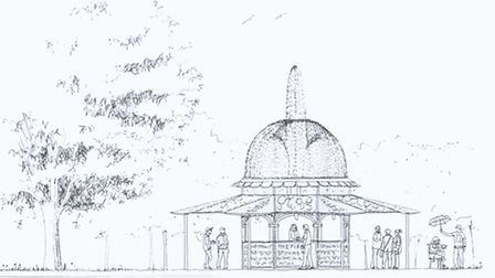 An artist's impression of what the landmark fountain bar will look like.